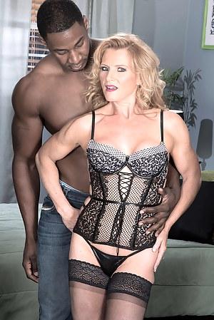 Now 50something, Amanda enjoys an interracial ass-fuck