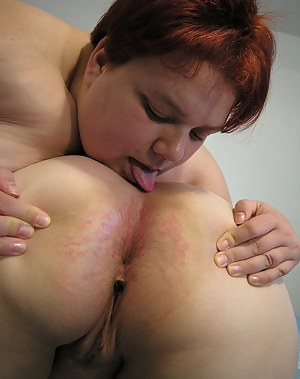 Lesbian mature chunky chicks on a roll