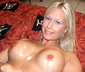Busty lady having extremely big tits is practicing wild sex with her strong partner. She is getting banged hard in doggy style position.