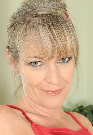 Gorgeous MILF Tina looking elegant in and out of her red dress