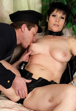 This kinky mama is playing with her horny toy boy