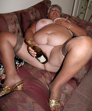 When a girl is away on holiday and sex-starved what is she to do  This grandma knew what to do  get out the wine bottle