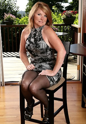 42 year old Stacie from AllOver30 posing in and out out of her dress