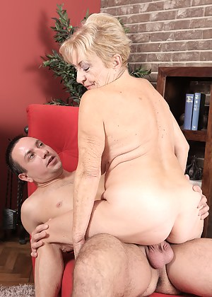 Mature GMILF Maya Lambert takes a younger man on for fun, sucking and fucking