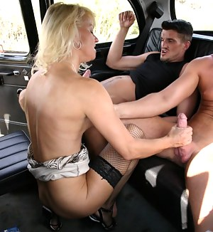 mature sex in a taxi