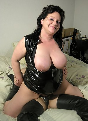 This big titted mature slut loves a hard cock