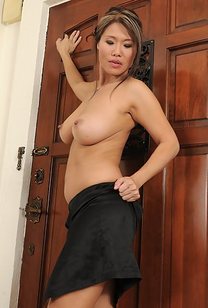 After a long day at the office Trisha likes to undress and spread