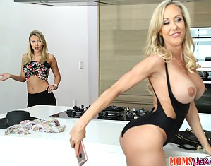 Gorgeous blonde is getting satisfied by her slutty mom. She is getting her wonderful pussy eaten and tortured with fingers.