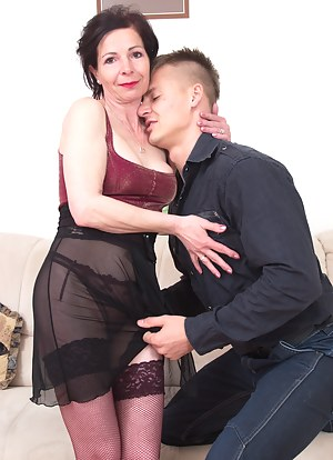 Naughty housewife playing with her horny toy boy