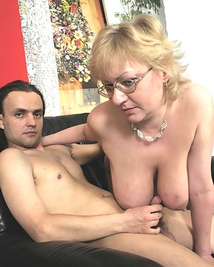 This big titted momma sure wants that cock