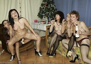 These mature sluts get a special wet surprise