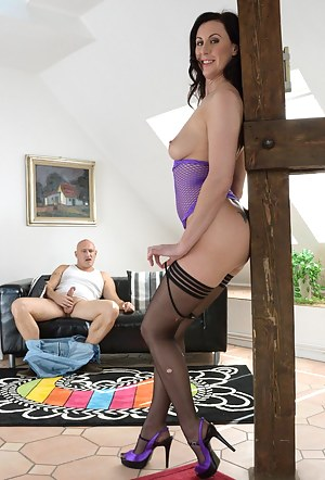 Lara loves a big cock and Bruno has one just for her now!