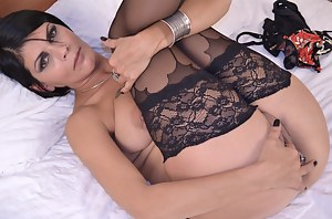 Horny hot housewife playing with her pussy