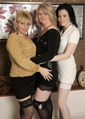 Three old and young lesbians go for orgasm
