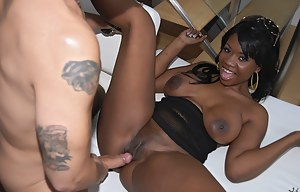 Be ready to see the hottest ebony lady in the world. She is taking off her sexy clothes and enjoying passionate fuck session with pleasure.