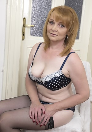 Horny housewife getting ready for fun