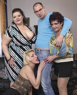 Three mature ladies fucking and sucking
