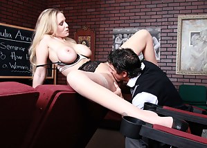 Julia Ann is a legendary MILF and she can teach a thing or two when it comes to making a girl feel good, so you really should grab pen and paper.