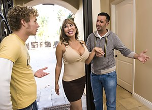 Threesomes are great, but when you have a sex-starved hottie like Ava Devine, everything changes. Enjoy watching her take two cocks at once.