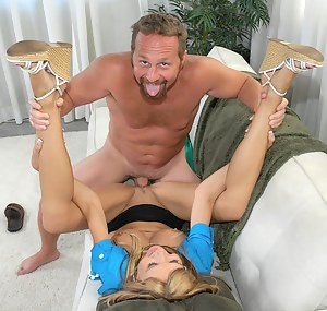 Check out this awesome MILF ready to suck and ride her lover's big cock all day long. She is feeling great being banged hard.
