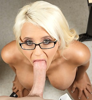 Deep penetration is what this busty blonde is always ready for. She is looking amazingly hot wearing jeans shorts and elegant glasses.