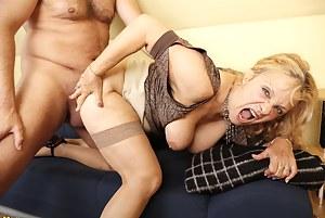 Horny German housewife fucked hard