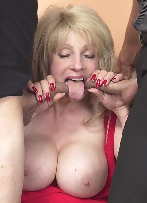 Big breasted MILF having an awesome threesome