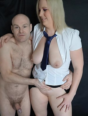 Lovely shoot where Our Dave actually struggles to get a hard-on initially due to Jaynes burgeoning  stardom in the porn