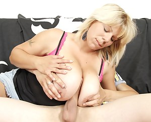 Hot housewife with big tits fucking like crazy