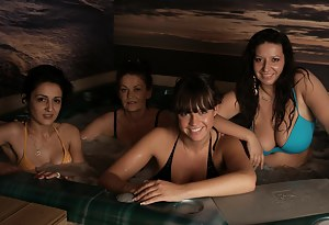 These women came here to relax and get naked