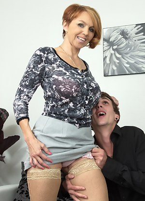 Horny MILF playing around with her toyboy