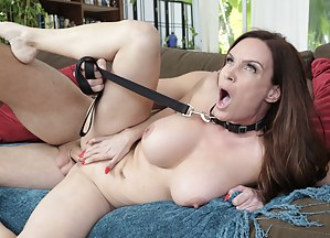 She's all up for all the things degrading and humiliating. She loves getting fucked in the ass while she's on a leash, like a dog.
