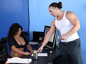 Enter the gyn where sweet brunette wearing sport uniform is getting punished with her instructor's cock and covered with cumshot.
